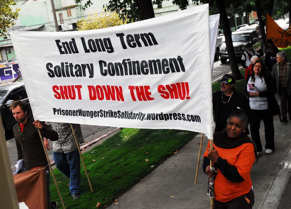 California prisoner hunger strike solidarity rally & march CDCR HQ Sacramento 101511 by Bill Hackwell