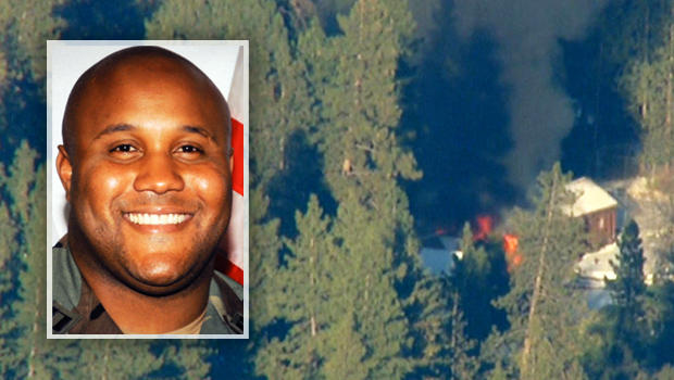 Christopher-Dorner-burning-cabin-021213-by-CBS-News, LAPD was never spooked by Christopher Dorner: Something don't smell right, National News & Views