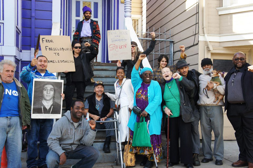 Foreclosure-to-Homelessness-rally-in-front-of-Kathryn-Galves-foreclosed-home-102312, The Underground SRO Railroad and other acts of dismantling the plantation called Amerikkka, Local News & Views