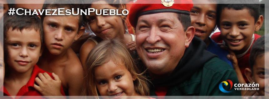 Hugo Chavez & kids
