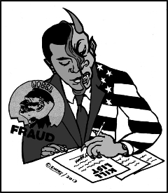 Obama-Kill-List-by-Emory-Douglas, Have we sold our souls by turning a blind eye to Obama's drones?, National News & Views