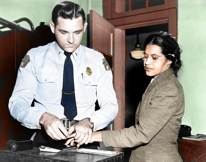 Rosa Parks fingerprinted 120155