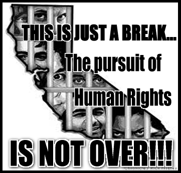 'This is just a break...the pursuit of HR is not over' prisoners on Cali map graphic