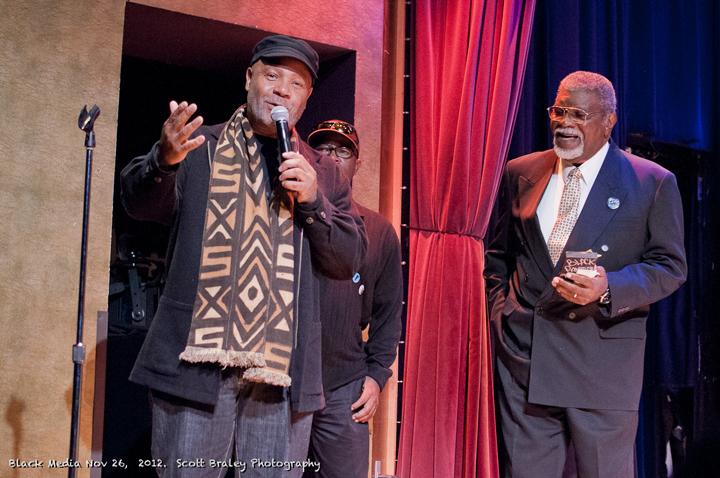 Black Media Appreciation Night Emory Douglas, Bill Jennings, Big Man 112612 by Scott Braley, web