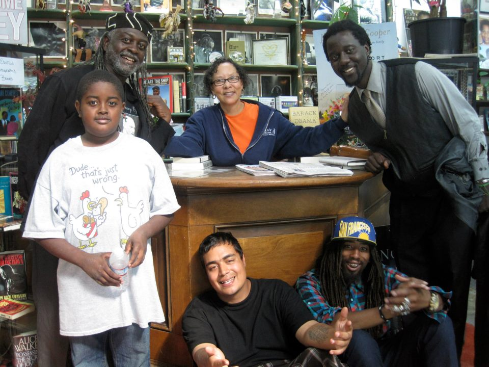 GÇÿFood FightGÇÖ video crew members at Marcus Books with Blanche Richardson