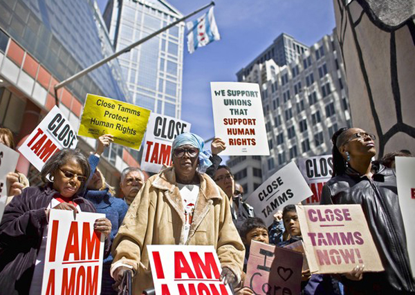 I-am-a-mom-anti-Tamms-Supermax-protest-0412-by-William-DeShazer, Solidarity and solitary: When unions clash with prison reform, Behind Enemy Lines