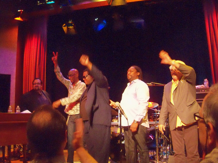 Joey DeFrancesco, Omar Hakim, Wallace Roney, Darryl Jones, Larry Coryell Yoshi's Oakland 031213 by Wanda