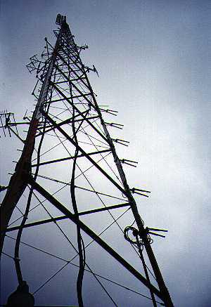 KPFA transmitter 59,000 watts, 304' tall, on 1500' Grizzley Peak in Berkeley Hills