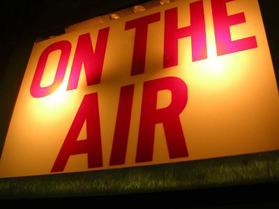 'On the air' sign