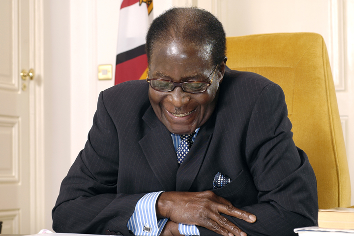 President Robert Mugabe in his office 2008, web