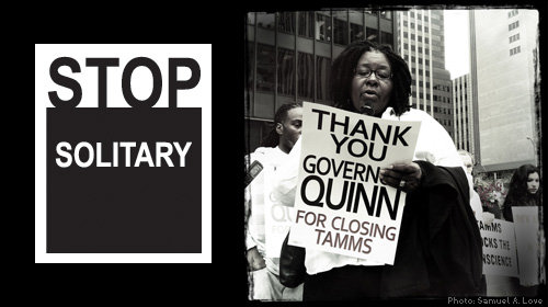 Thank-you-Gov-Quinn-for-closing-Tamms-Stop-Solitary-poster, Solidarity and solitary: When unions clash with prison reform, Behind Enemy Lines