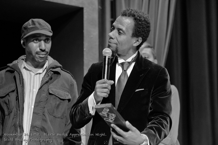 Black Media Appreciation Night Sauce, David Roach bw 112612 by Scott Braley