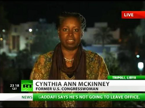 Cynthia McKinney reports from Libya