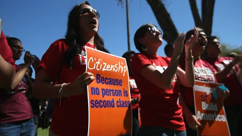 Immigration rally 'Citizenship because no preson is 2nd class' 031513 by John Moore, Getty