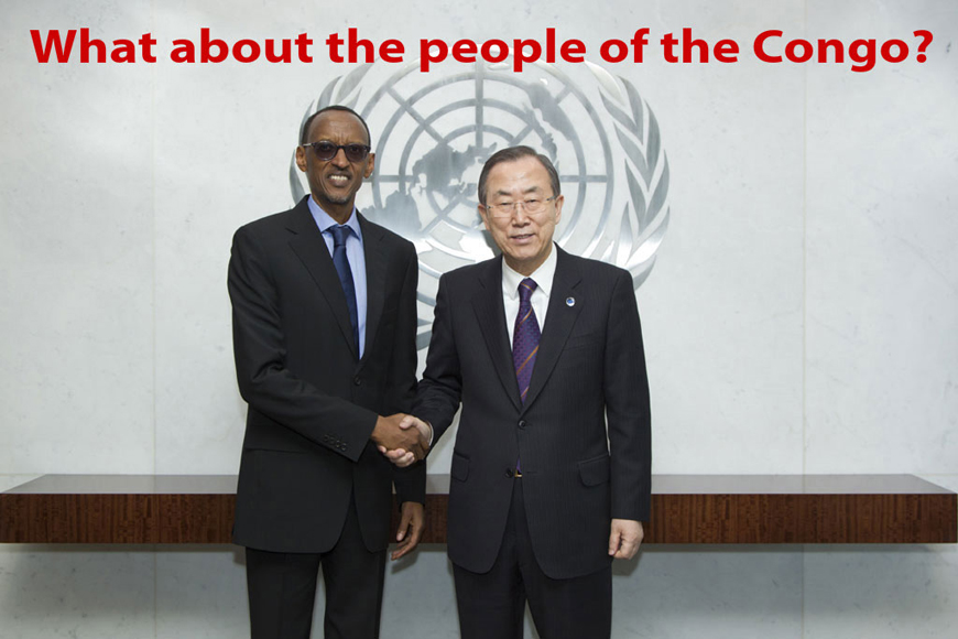 Pres. Paul Kagame, S-G Ban ki-Moon at UN 032313 'What about people of Congo' added by Ann