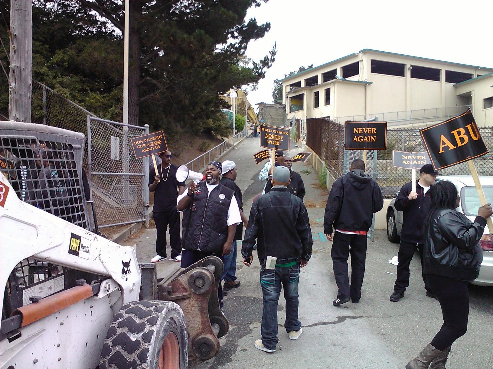 ABU protest Willie Brown Academy 082112 courtesy ABU
