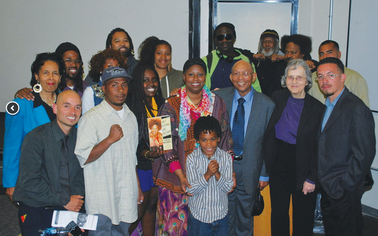 Cynthia McKinney Tour group pic after event 042413 Laney by Darnisha Wright
