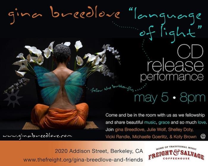 Gina Breedlove 'Language of Light' flier