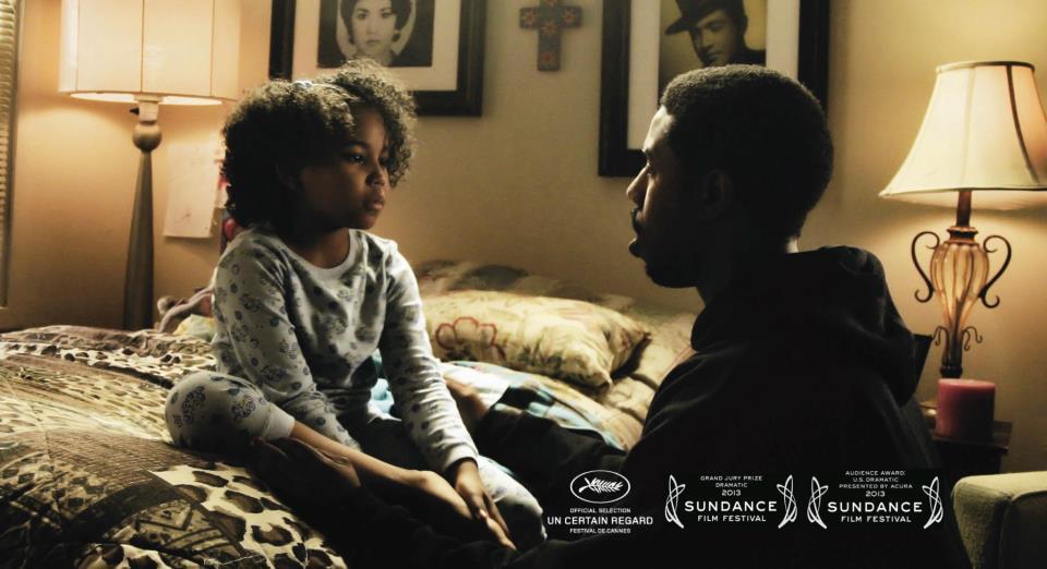 Michael B. Jordan as Oscar Grant, Ariana Neal as daughter Tatiana in 'Fruitvale'