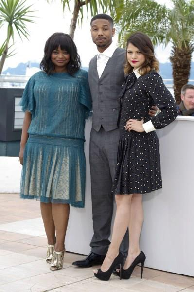 Octavia Spencer, Michael B. Jordan, Melanie Diaz stars of GÇÿFruitvaleGÇÖ at Cannes 052513