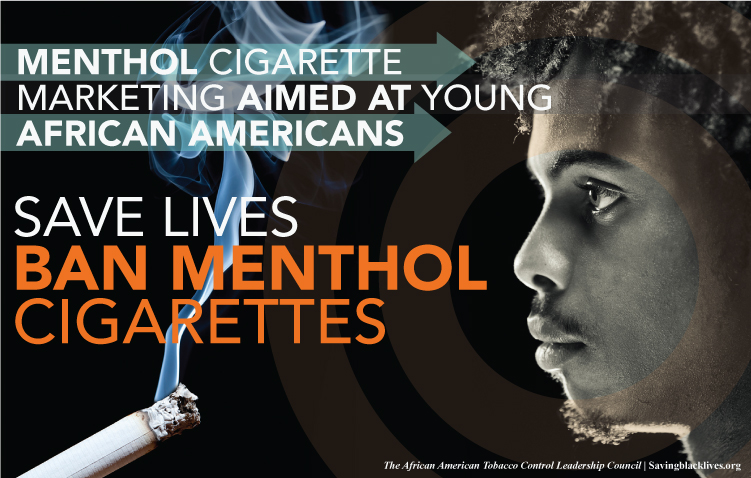 'Ban Menthol Cigarettes' graphic