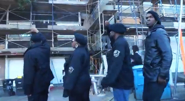 Black Riders Liberation Party help DeBray (FlyBenzo) & Claude Carpenter shut down KCK Builders at Ridgeview Terrace 0613