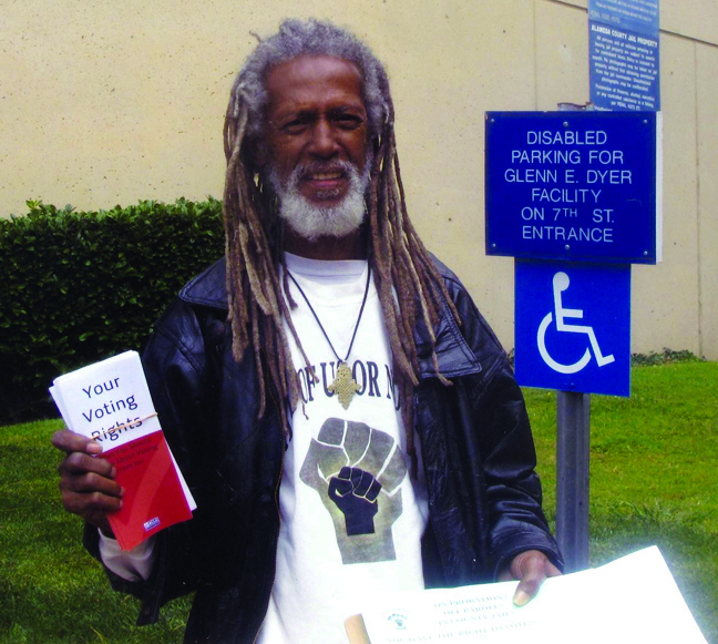Elder Freeman, All of Us or None, outside Oakland jail 081608