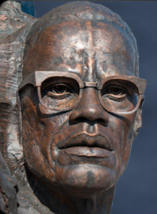 Malcolm X in 'Remember Them Champions for Humanity' sculpture Oakland by Mario Chiodo