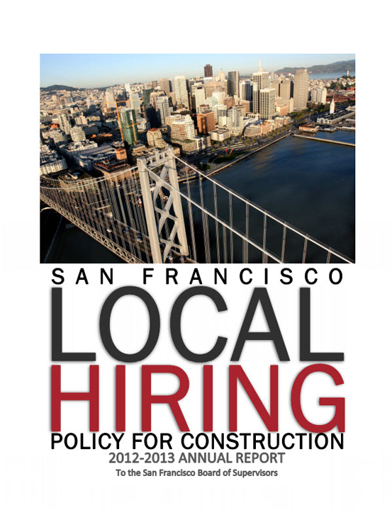 'SF Local Hiring Policy for Construction 2012-2013 Annual Report' cover