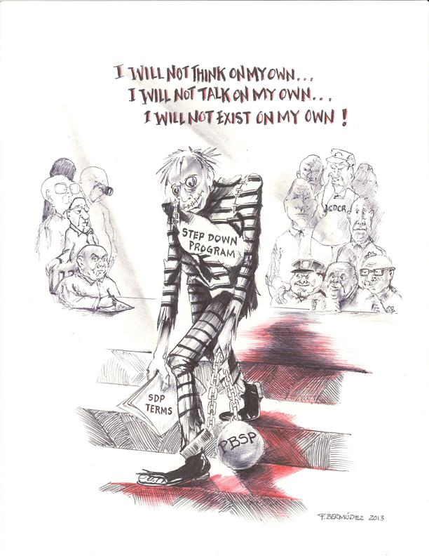'Step Down Program' drawing by F. Bermudez, web
