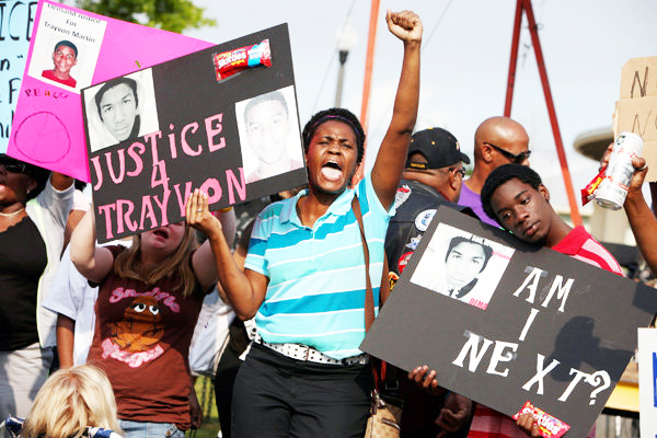 Trayvon Martin demonstration by Julie Fletcher, AP