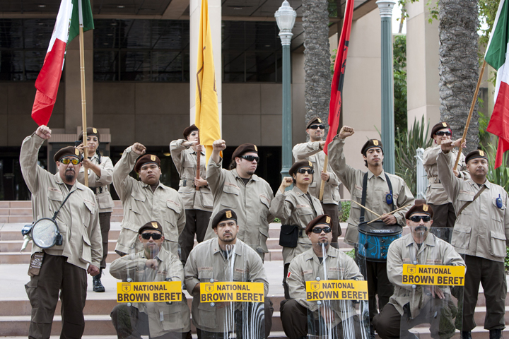 Anaheim-anti-police-murder-march-Brown-Berets-072113-by-Malaika-web, Mass march against police brutality in Anaheim: Basta ya!, National News & Views
