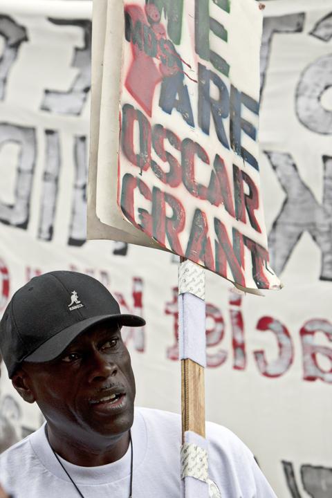 Anaheim-anti-police-murder-march-Cephus-Johnson-We-are-Oscar-Grant-072113-by-Malaika-web, Mass march against police brutality in Anaheim: Basta ya!, National News & Views