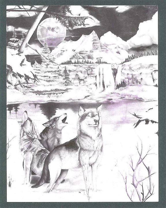 Arctic scene, drawing by Billy Sell, Courtesy Prisoner Express, www.prisonerexpress.org, Gary Fine, assistant director,