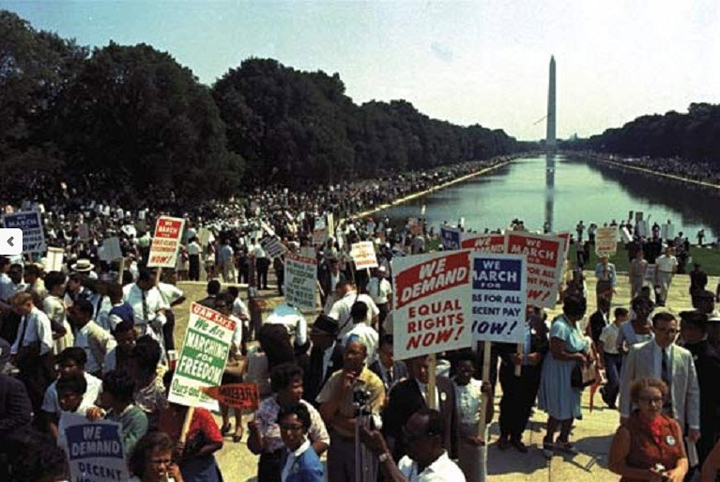 Image result for march on washington in color