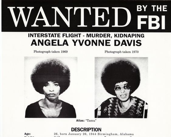 Angela Davis FBI wanted poster