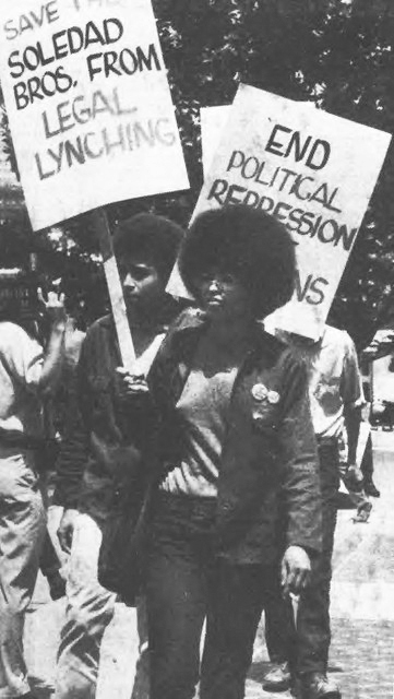 Angela Davis, Jonathan Jackson march to free George Jackson, Soledad Bros 1970