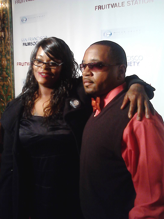 Denika Chatman, Ansar Muhammad, director of 'COP' on red carpet 'Fruitvale' opening 062013