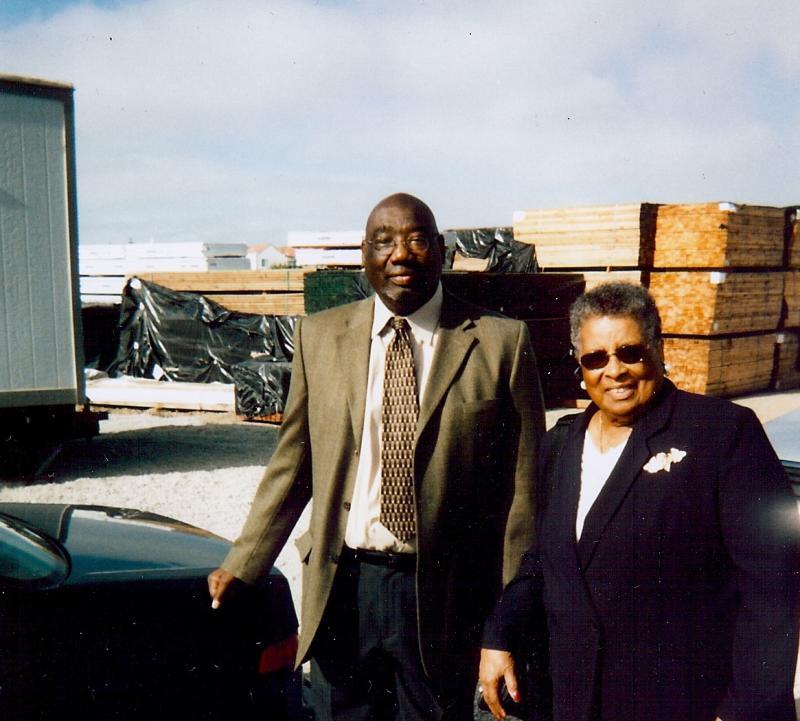 Dr. George Davis, Willie B. Kennedy 5800 Third St., site of future sr. housing, 2008