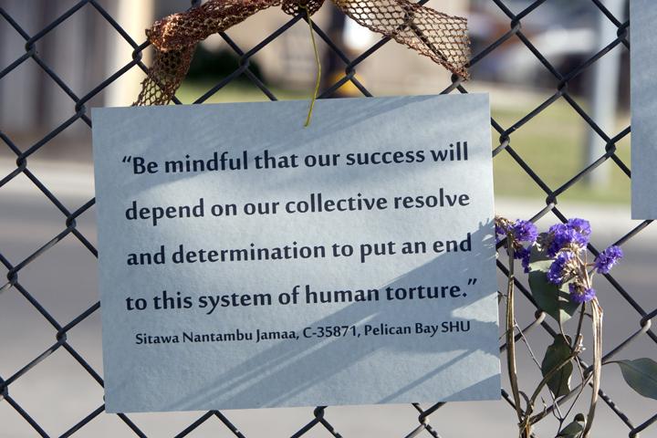 200 + Rally to support prisoner hunger strike