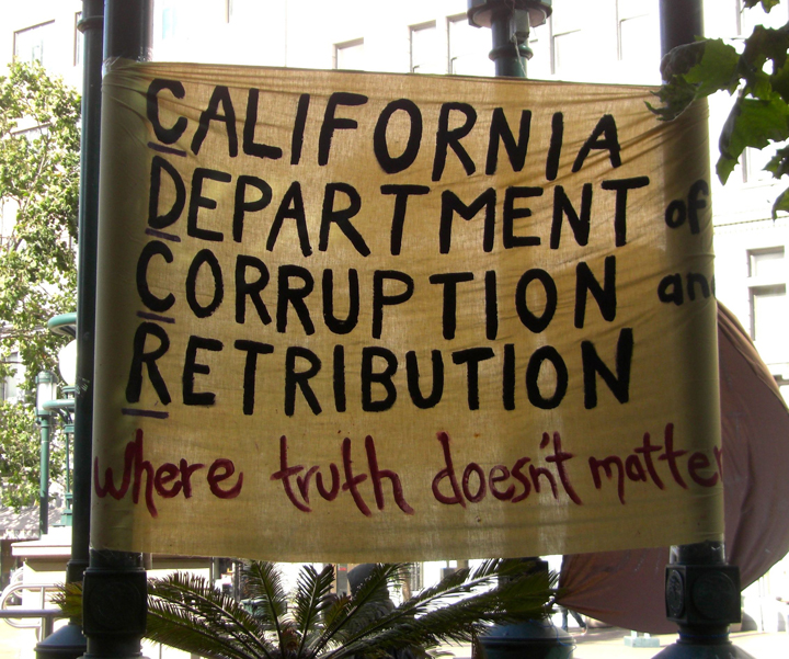 Hunger strike rally Oscar Grant Plaza 'Cali Dept of Corruption, Retribution' 073013 by Urszula Wislanka