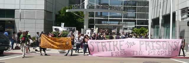 Hunger strike rally 'Strike the prisons, free the people' Oakland State Bldg 073113 by Urszula Wislanka