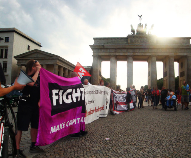 Hunger strike solidarity rally Berlin 072913-1