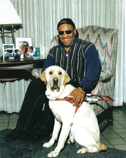 Joe Capers with his dog