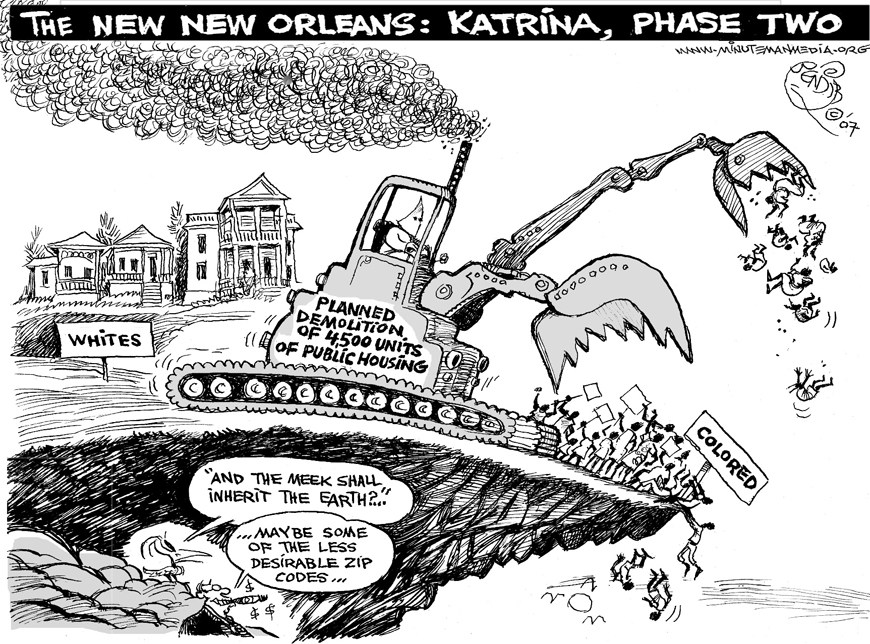 Khalil Bendib New Orleans Negro Removal 1207, web