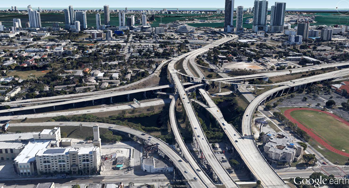 Overtown Expressway looking east 061713 by Google Earth