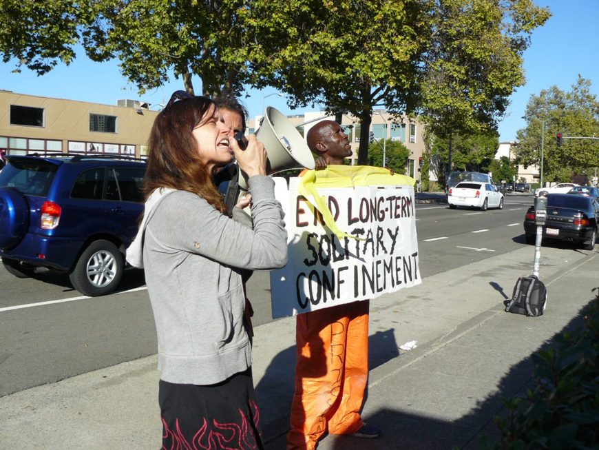 60-hour solidarity fast ends bullhorn message to Gov. Brown 27th & Telegraph Oakland 090713