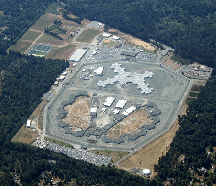 Aerial view of Pelican Bay State Prison 072709, web
