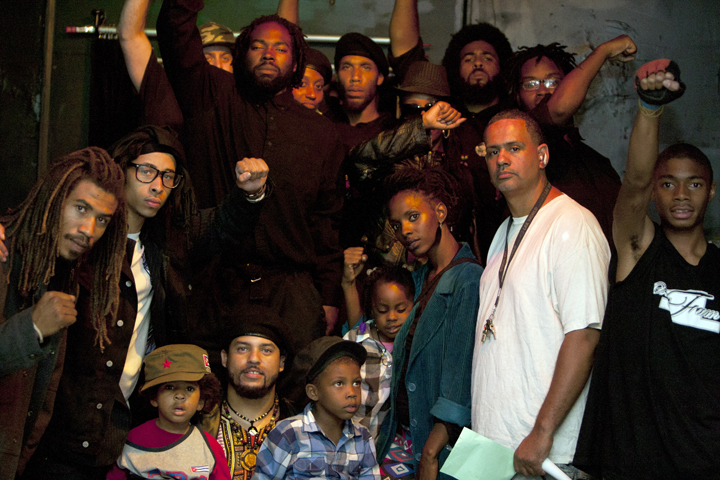 Black-Riders-doc-screening-Black-Riders-supporters-One-Fam-community-members-activists-at-One-Fam-Comy-Ctr-082413-web, To serve the people: Black Riders Liberation Party, new generation Black Panther Party for Self-Defense, Local News & Views