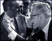 Gov. Nelson Rockefeller finger re Attica requests 1971